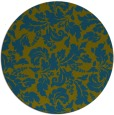 rug #959525 | round green rug