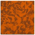 rug #962237 | square red-orange rug