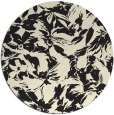 rug #963069 | round black rug