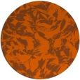 rug #963317 | round red-orange rug