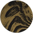 rug #964873 | round black abstract rug