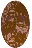 rug #96793 | oval brown rug