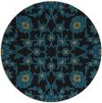 rug #970273 | round black rug