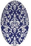 rug #971613   oval blue rug