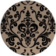 rug #972057 | round black rug