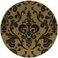 rug #972073 | round black rug