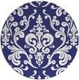 rug #972333 | round blue rug