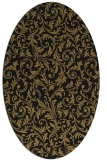 rug #980353 | oval brown rug