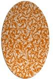 rug #980529 | oval orange rug