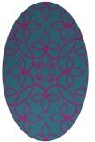 rug #982209 | oval blue-green rug