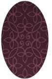 rug #982288   oval damask rug