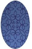 rug #982415 | oval damask rug