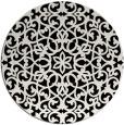 rug #984649 | round black rug