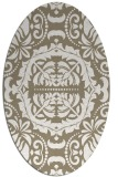 rug #988401 | oval traditional rug