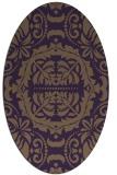 rug #988485 | oval purple rug