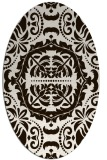 rug #988557 | oval brown rug