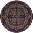 rug #989205   round purple rug