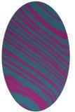 rug #991929 | oval blue-green rug