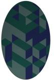 rug #997285   oval blue rug