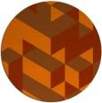 rug #998229 | round red-orange rug