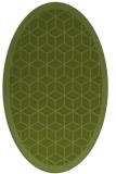 rug #999173 | oval green rug