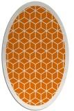 rug #999249 | oval orange rug